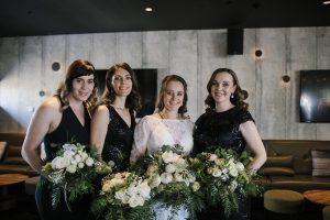 Makeup by Inèz • Photo by It's Beautiful Here • Bride Nola • Bridesmaids Simmone, Ellen & Lora