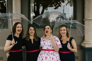 Makeup by Inèz • Photo by Gold and Grit • Bride Liz • Bridesmaids Rimma, Jess & Sacha