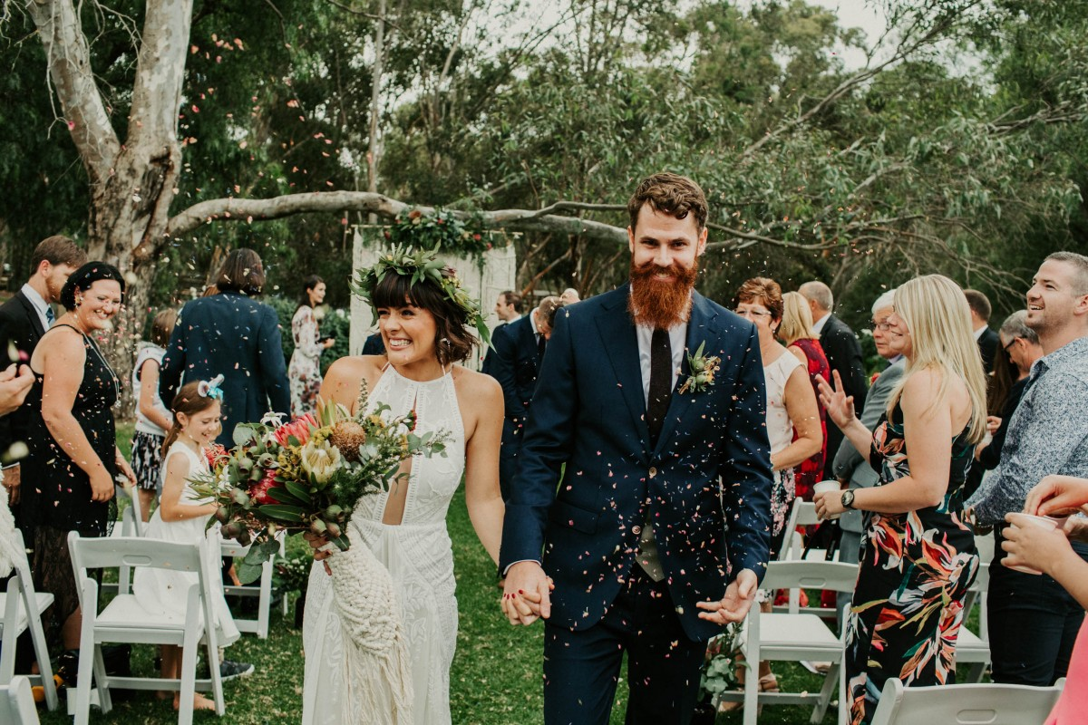 Yay! Just married! CONFETTI!!