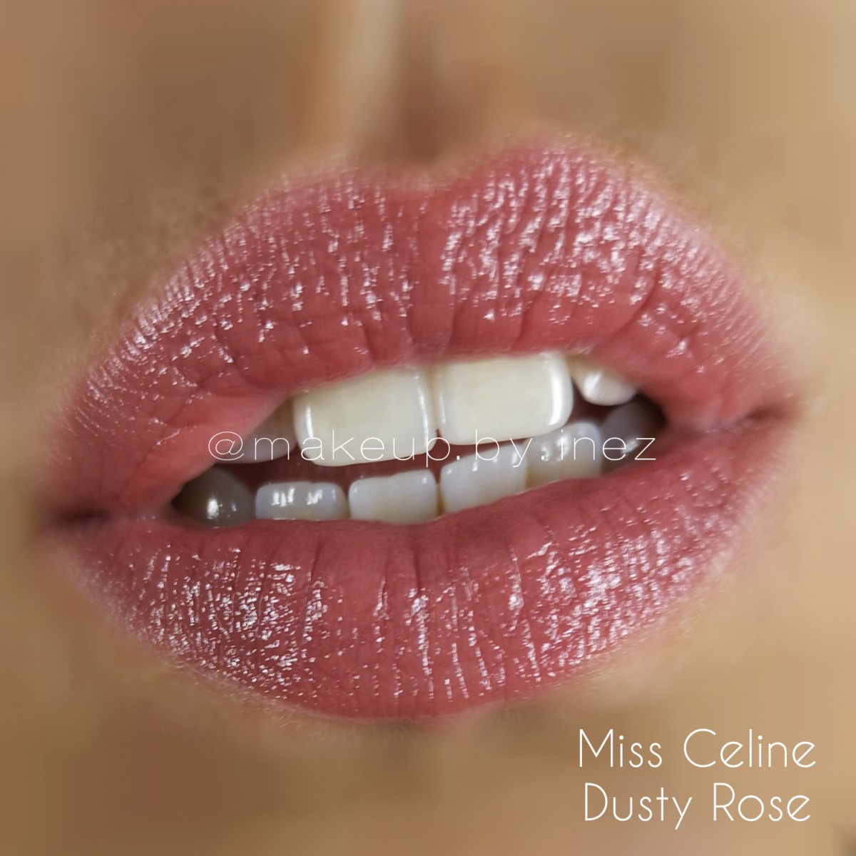 Miss Celine Dusty Rose Satin Luxe