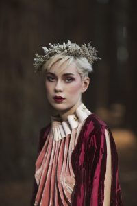 Hair & Makeup by Inèz • Photo by Natalie Tirant • Florals Stems from Her • Ceramics Zoe • Fashion Madeleine Sinco • Model Abbie