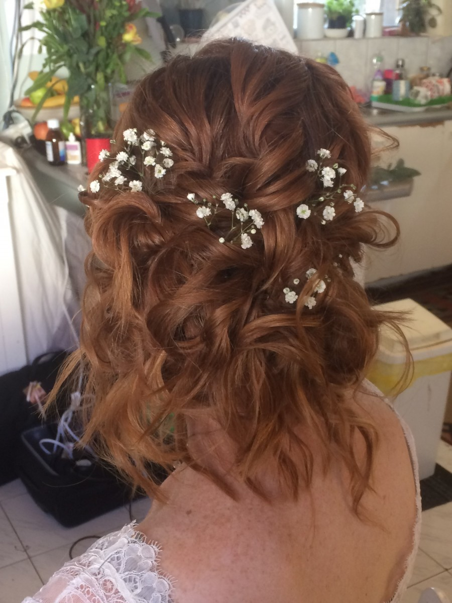 Chiara's hair at her wedding day!