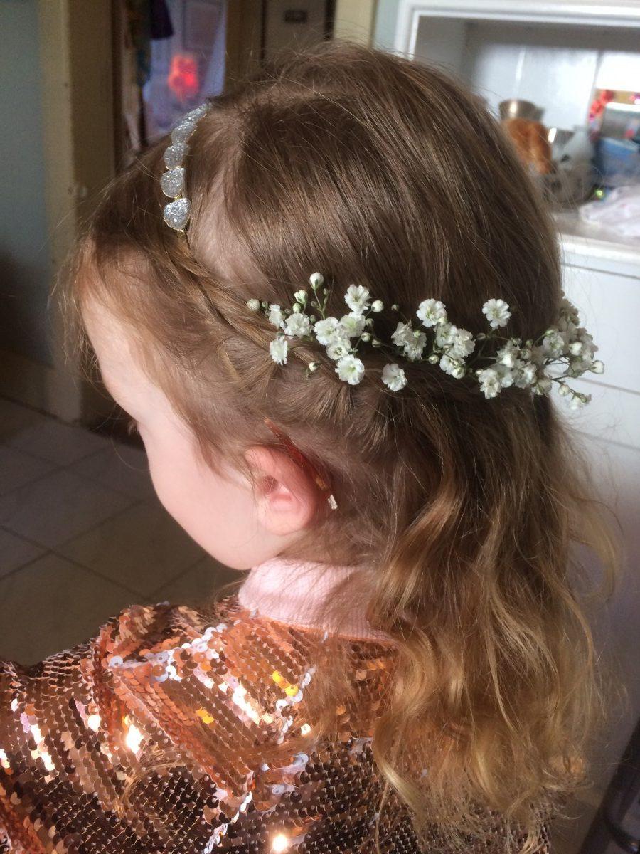 Cute flowergirl Henrietta, Chiara & Adrian's daughter